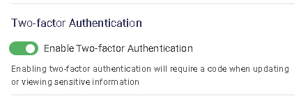 2fa is enabled
