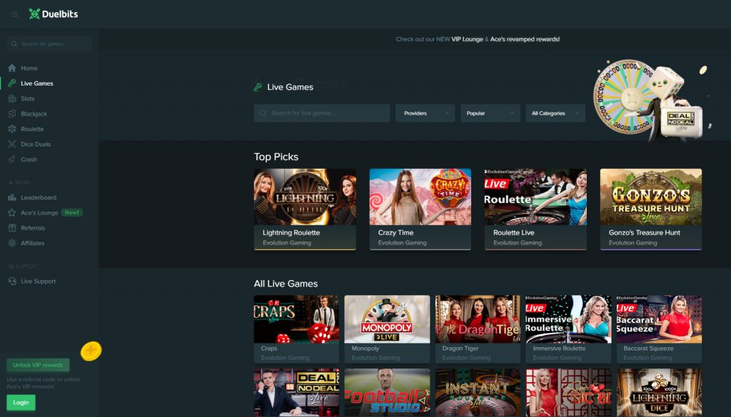 duelbits casino free online games